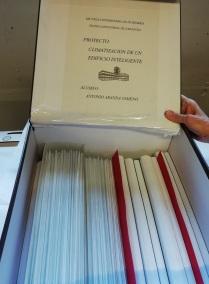 Disposición de contenido de PFC en caja