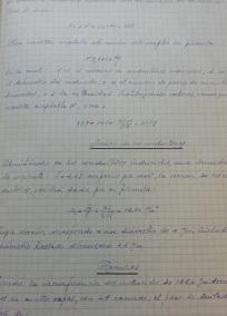Página interior proyecto manuscrito en hoja cuadriculada